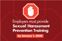 Employers must provide sexual harassment prevention training to all employees by Jan. 1, 2020